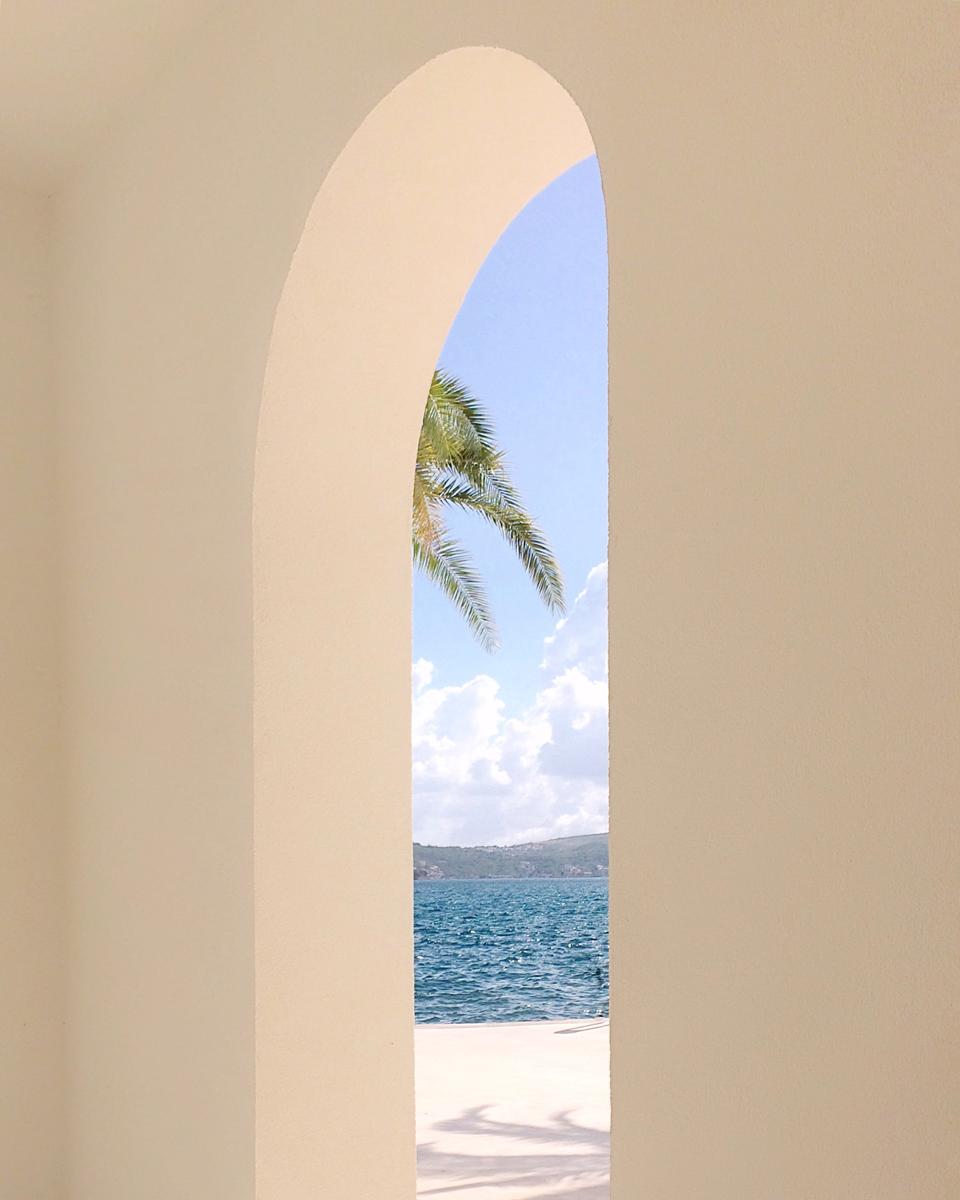 La forme des fenêtres donne des cadres réguliers