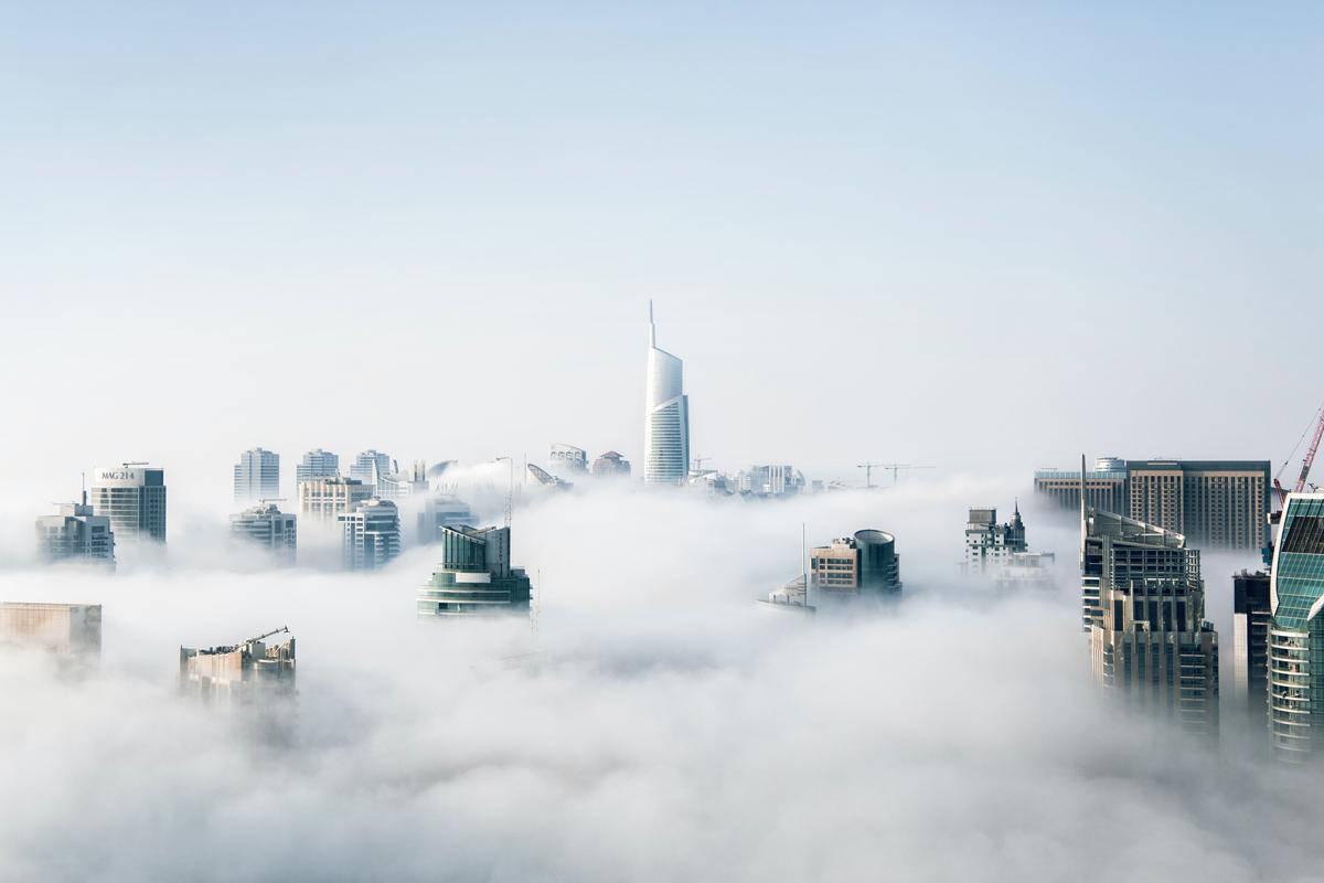 Niebla sobre una ciudad