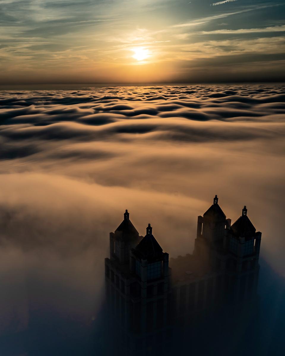 Fotografía de niebla con largo tiempo de exposición