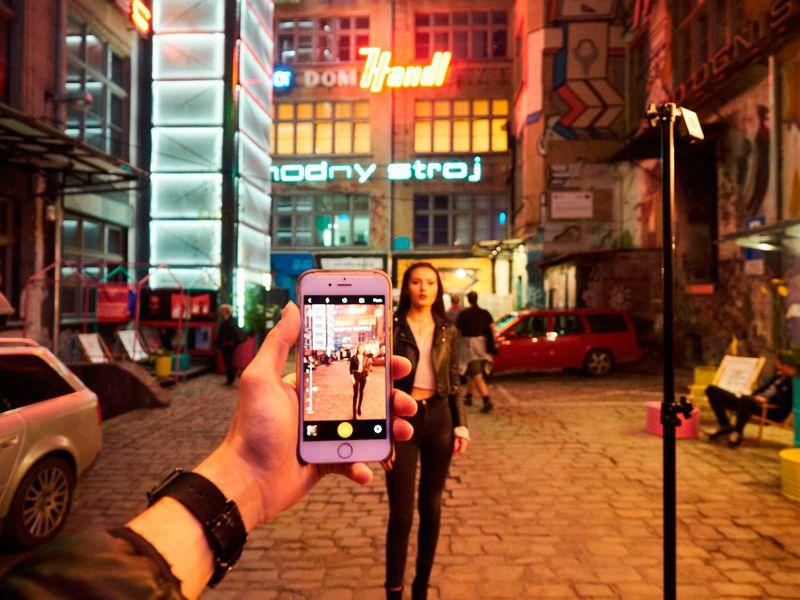 Iluminación de estudio en un smartphone