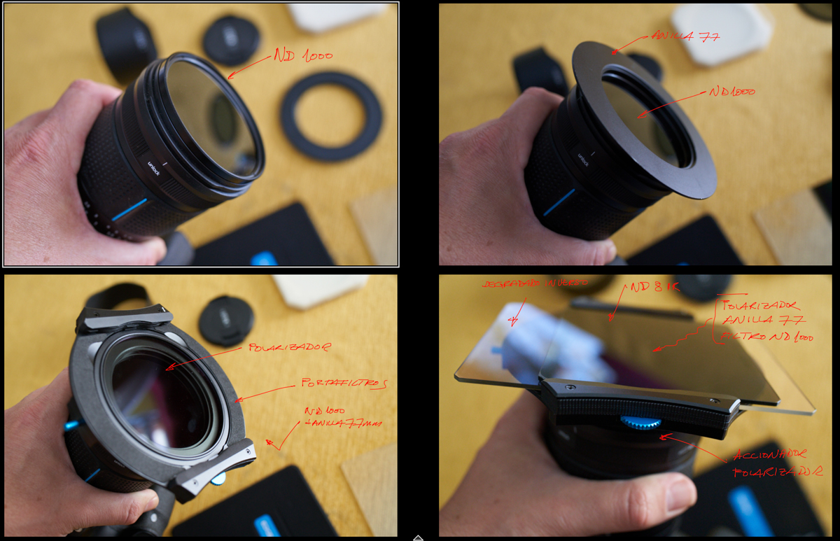 Ejemplo de montaje en el portafiltros Irix Edge IFH-100-PRO