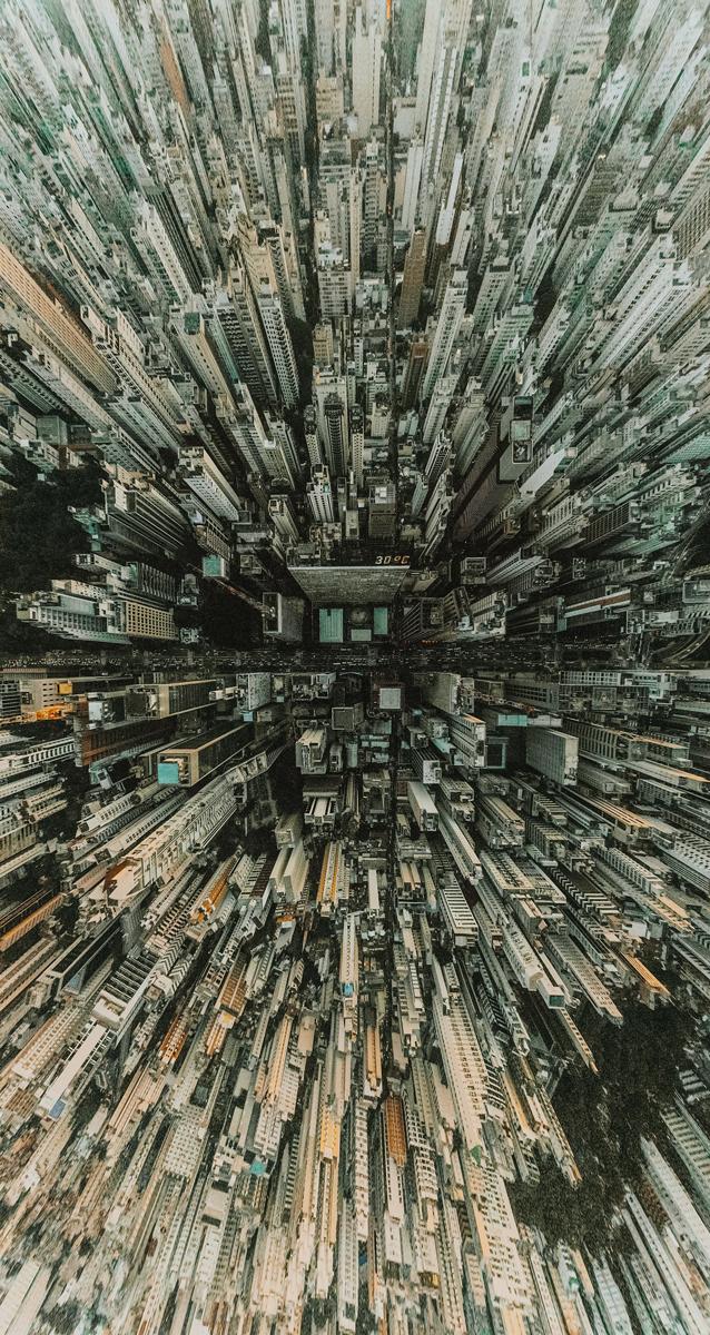 Fotos panorámicas originales: Ciudad desde una vista aérea