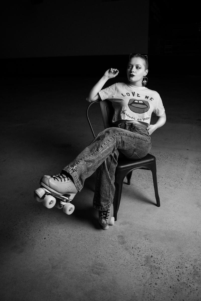 Retratos en blanco y negro: Posando de cuerpo entero