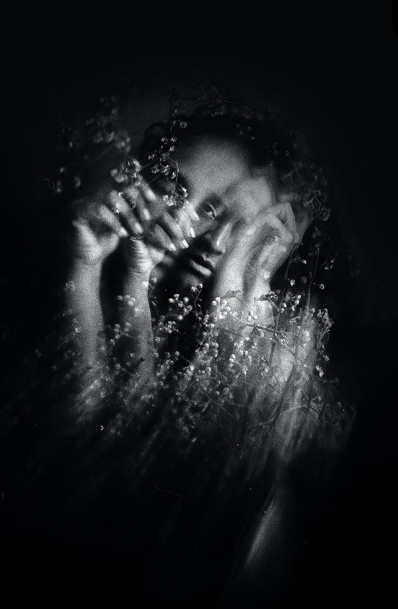 Retratos en blanco y negro: Con la velocidad de obturación larga